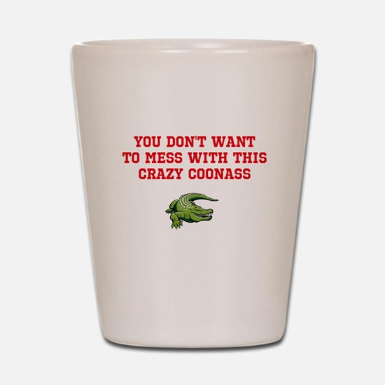 Unique Coonass Shot Glass