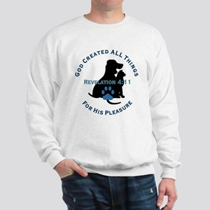 God Loves Animals Sweatshirt