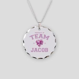 Team Jacob Necklace Circle Charm