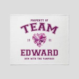 Team Edward Throw Blanket