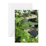 Purple Lotus Greeting Cards (Pk of 10)