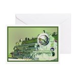 Mod Steam Engine Greeting Cards (Pk of 10)