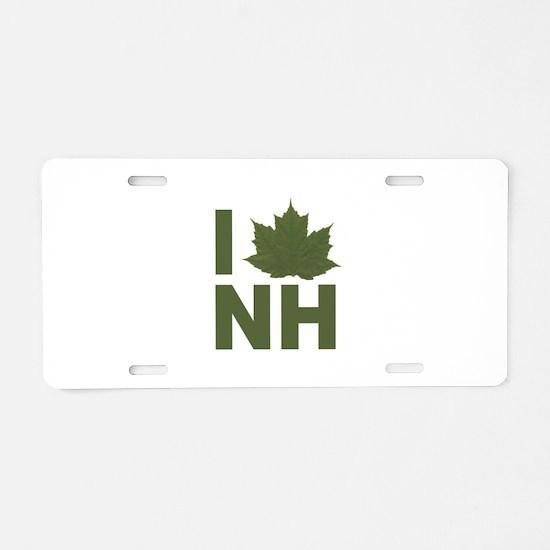 I Love NH Aluminum License Plate