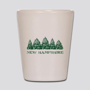 NH Winter Evergreens Shot Glass