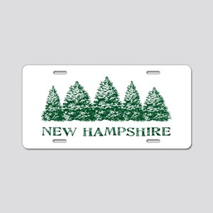 NH Winter Evergreens Aluminum License Plate