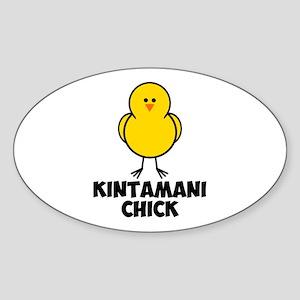Kintamani Chick Sticker (Oval)