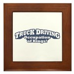 Truck Driving / Kings Framed Tile