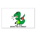 Bring Me A Donut Sticker (Rectangle 50 pk)