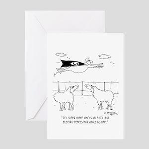 Super Sheep Greeting Card