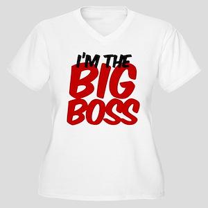 big boss Women's Plus Size V-Neck T-Shirt