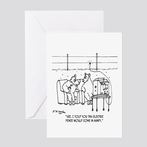 Electric Fence Is Handy Greeting Card