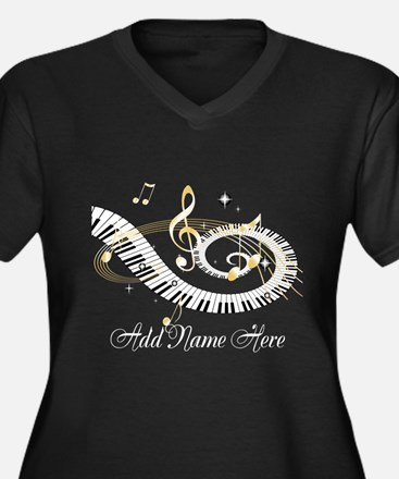 Personalized Piano Musical gi Women's Plus Size V-