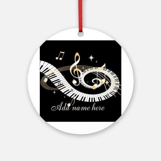 Personalized Piano Musical gi Ornament (Round)