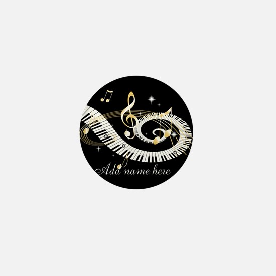 Personalized Piano Musical gi Mini Button