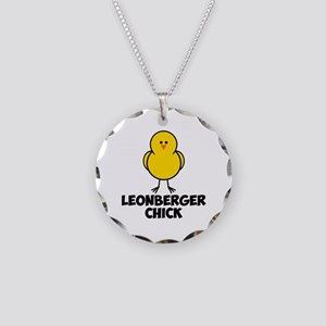 Leonberger Chick Necklace Circle Charm