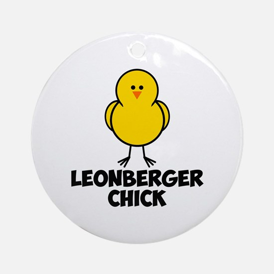 Leonberger Chick Ornament (Round)