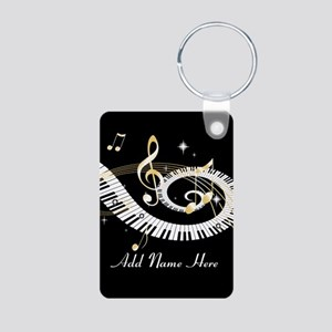 Personalized Piano Musical gi Aluminum Photo Keych