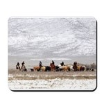Cowgirls and Cowboys herding cattle Mousepad