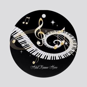 Personalized Piano Musical gi Ornament (Round)