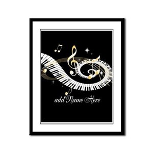 Personalized Piano Musical gi Framed Panel Print