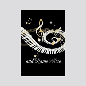 Personalized Piano Musical gi Rectangle Magnet
