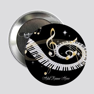 "Personalized Piano Musical gi 2.25"" Button"