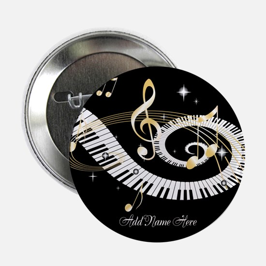 "Personalized Piano Musical gi 2.25"" Button"