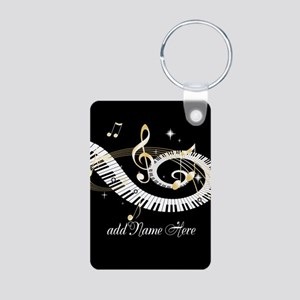 Personalized Piano Musical gi Aluminum Photo Keych