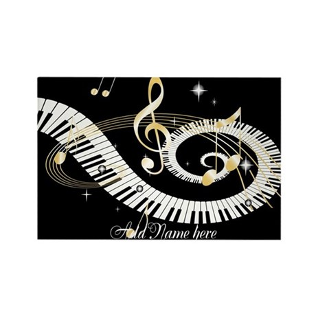 Personalized Piano Musical gi Rectangle Magnet (10
