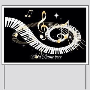 Personalized Piano Musical gi Yard Sign