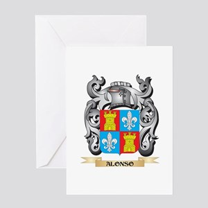 Alonso Family Crest - Alonso Coat o Greeting Cards
