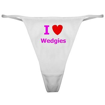 I [heart] Wedgies Classic Thong
