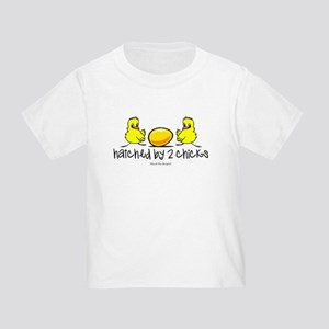 Hatched by 2 chicks. Toddler T-Shirt
