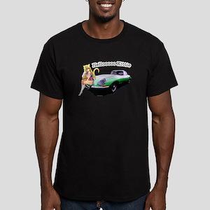 E-type Helloooo Kittie Men's Fitted T-Shirt (dark)