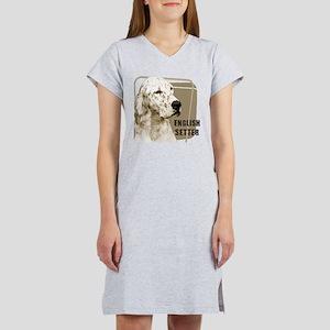 English Setter Vintage Women's Nightshirt