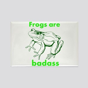 Frogs Are Badass Rectangle Magnet