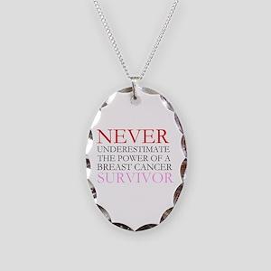 Never Underestimate... (BCS) Necklace Oval Charm