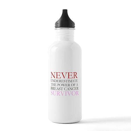 Never Underestimate... (BCS) Stainless Water Bottl