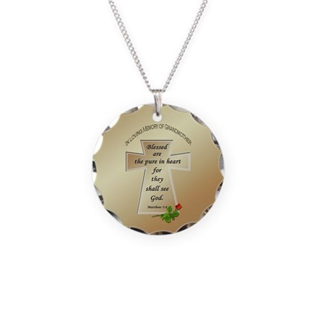 In Loving Memory of Grandmother Necklace Circle Ch