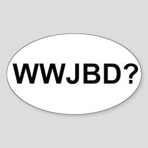 WWJBD Sticker (Oval 10 pk)