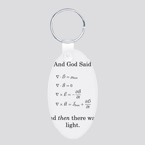 Maxwell's Equations Aluminum Oval Keychain