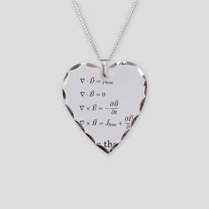 Maxwell's Equations Necklace Heart Charm