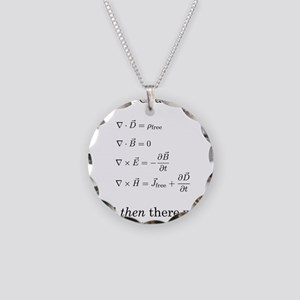 Maxwell's Equations Necklace Circle Charm