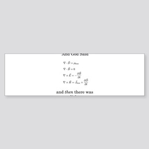 Maxwell's Equations Sticker (Bumper)