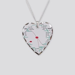 Kreb's Cycle Necklace Heart Charm