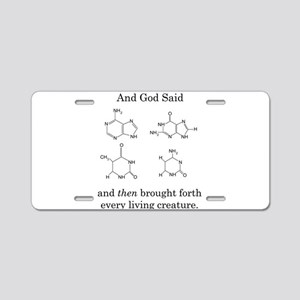 God Created DNA Aluminum License Plate