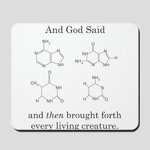 God Created DNA Mousepad