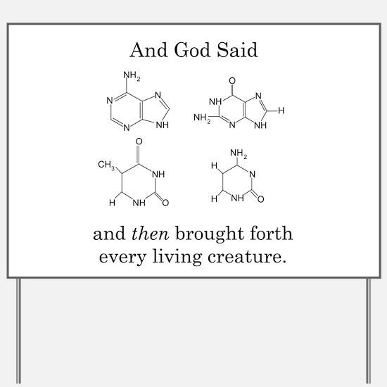 God Created DNA Yard Sign