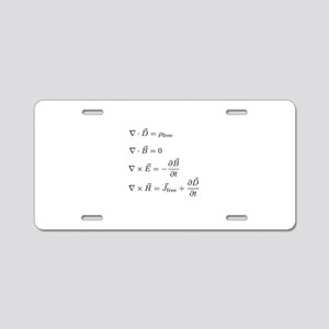 Maxwell's Equations Aluminum License Plate