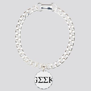 Greek Geek Charm Bracelet, One Charm